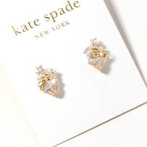 kate spade crystal bow earrings